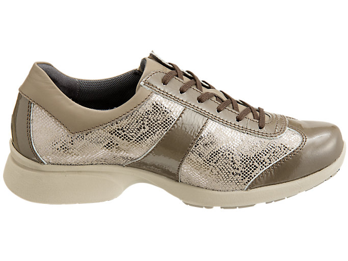 Front Left view of PEDALA WALKING SHOES 2E, TAUPE GREY