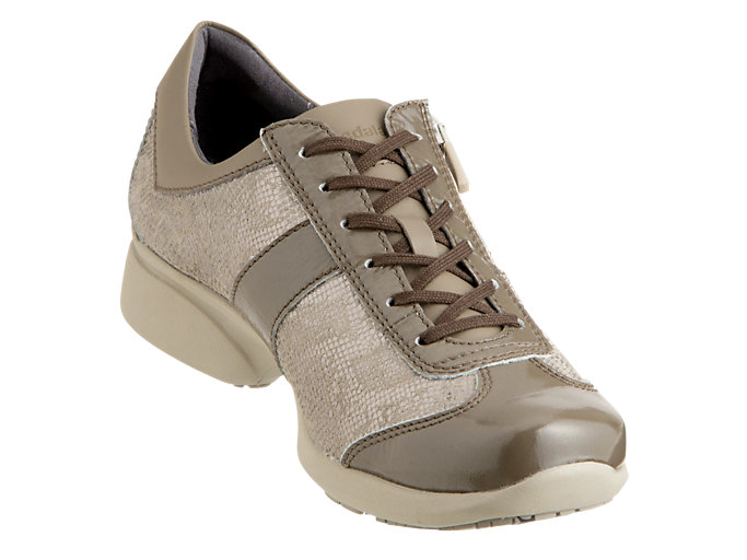Front Right view of PEDALA WALKING SHOES 2E, TAUPE GREY