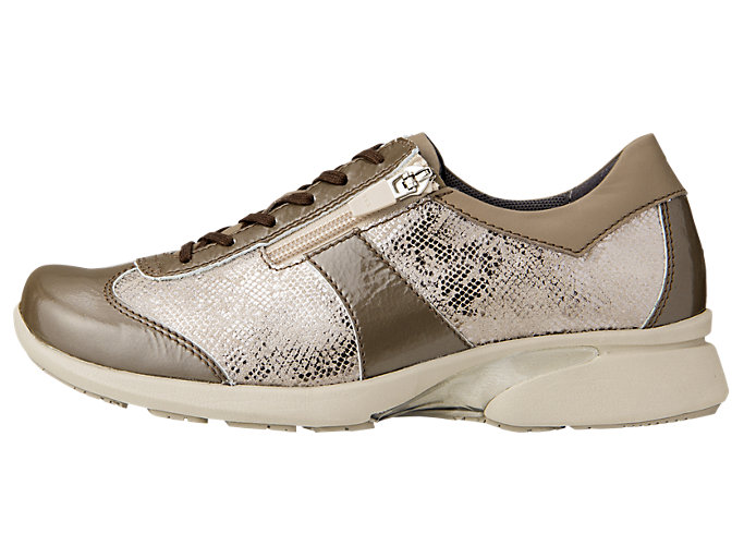 Left side view of PEDALA WALKING SHOES 2E, TAUPE GREY