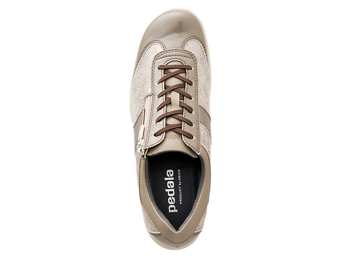 Top view of PEDALA WALKING SHOES 2E, TAUPE GREY