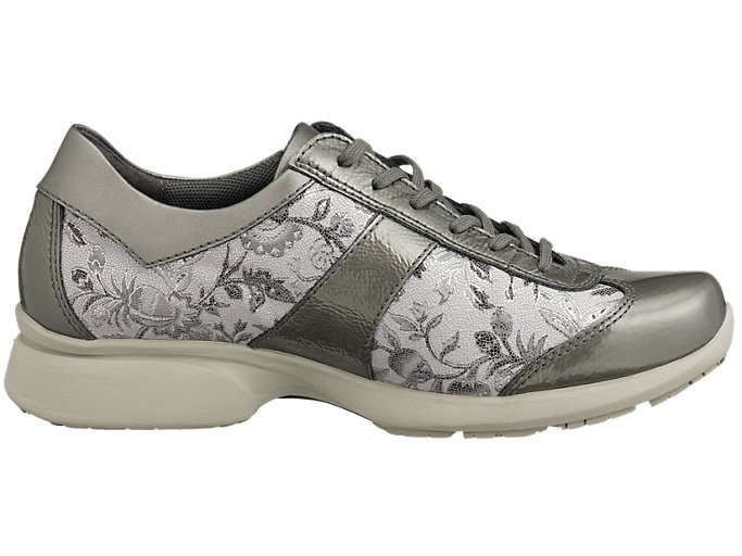 Front Left view of PEDALA WALKING SHOES 2E, ダークグレー/ストーングレー