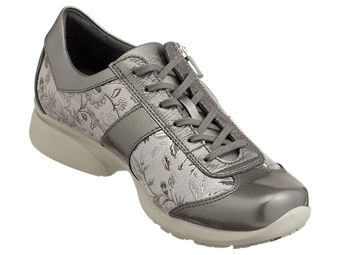 Front Right view of PEDALA WALKING SHOES 2E, ダークグレー/ストーングレー