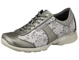 Right side view of PEDALA WALKING SHOES 2E, ダークグレー/ストーングレー