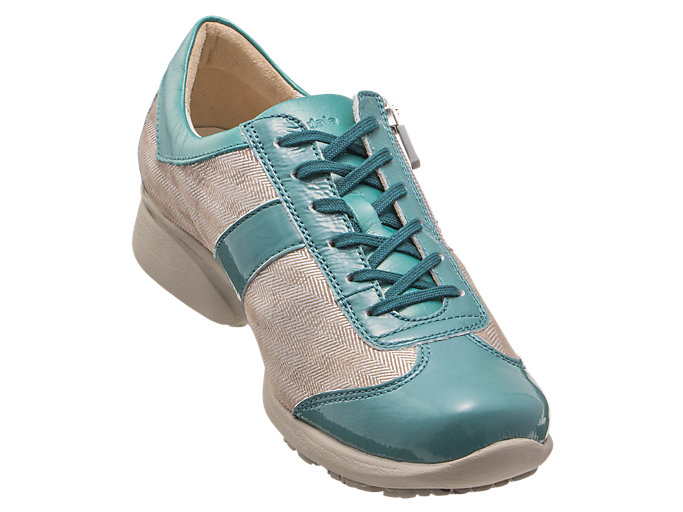 Front Right view of PEDALA WALKING SHOES 2E, ライトティール/ストーングレー