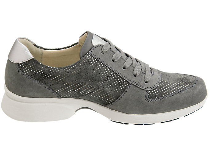 Front Left view of PEDALA WALKING SHOES 2E, DARK GREY