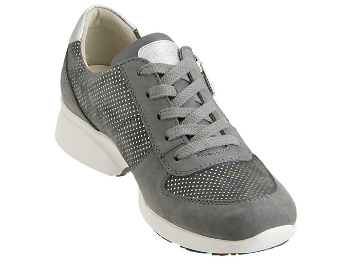 Front Right view of PEDALA WALKING SHOES 2E, DARK GREY