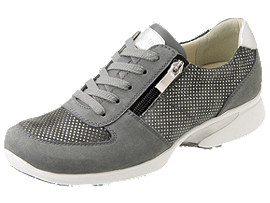 Right side view of PEDALA WALKING SHOES 2E, DARK GREY