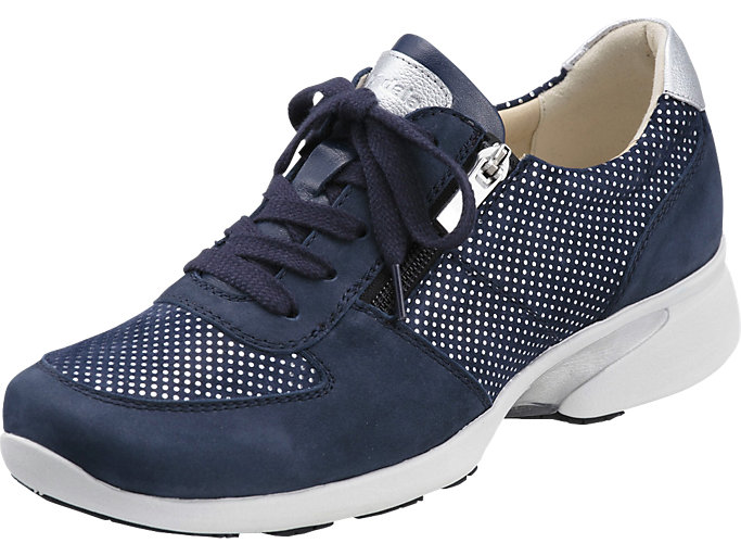 Front Left view of PEDALA WALKING SHOES 2E, Nネイビーブルー