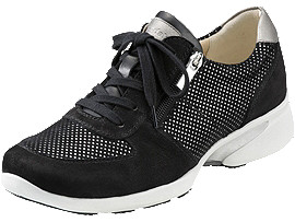 Front Left view of PEDALA WALKING SHOES 2E, Nブラック