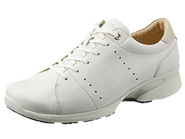 Right side view of PEDALA WALKING SHOES 2E, WHITE