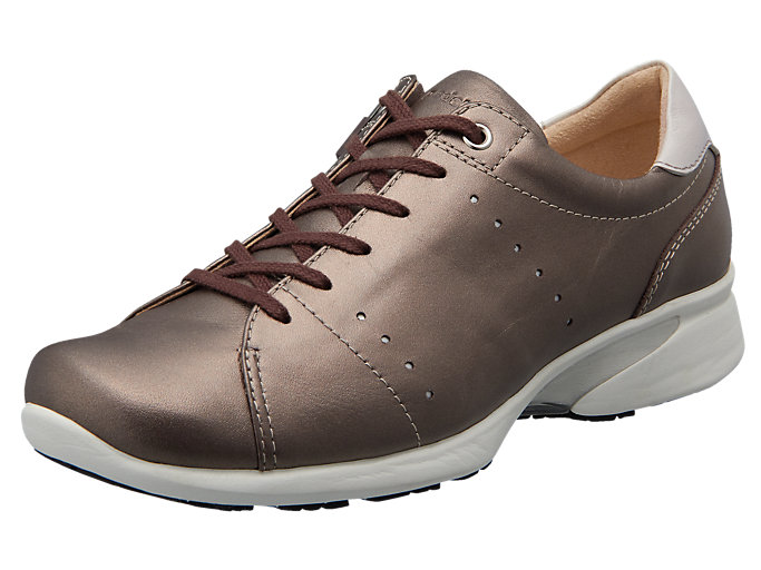 Right side view of PEDALA WALKING SHOES 2E, コーヒー/P