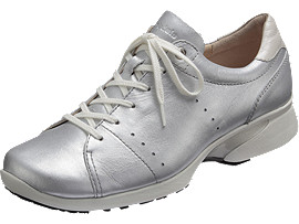 Front Left view of PEDALA WALKING SHOES 2E, シルバー