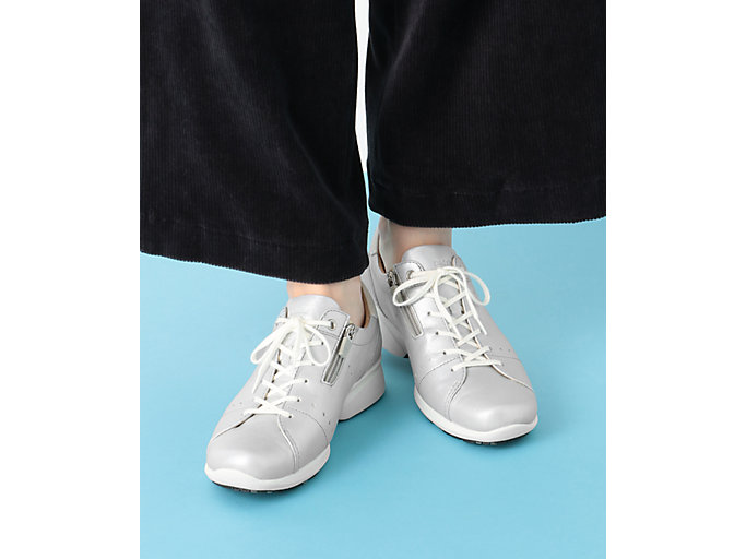 Alternative image view of PEDALA WALKING SHOES 2E, シルバー