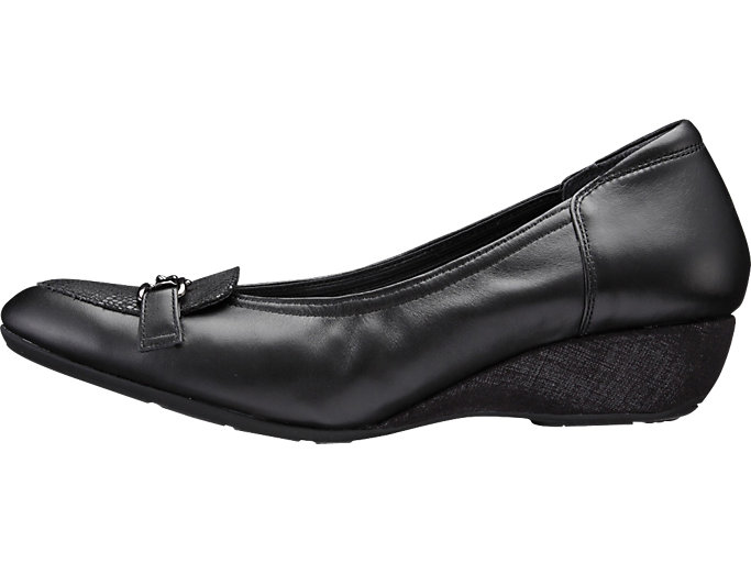 Left side view of PEDALA WALKING SHOES 3E, ブラック