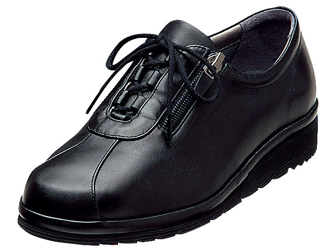 Front Left view of PEDALA WALKING SHOES 4E, ブラック