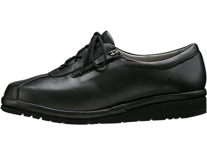 Left side view of PEDALA WALKING SHOES 4E, ブラック