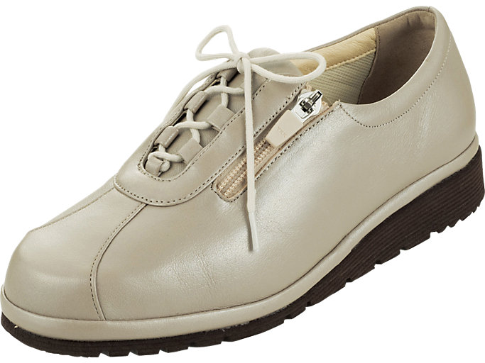 Front Left view of PEDALA WALKING SHOES 4E, Pライトグレー