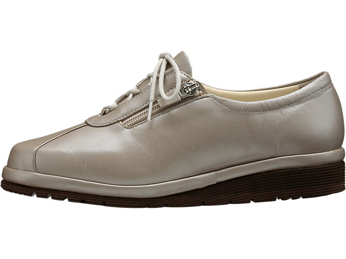 Left side view of PEDALA WALKING SHOES 4E, Pライトグレー