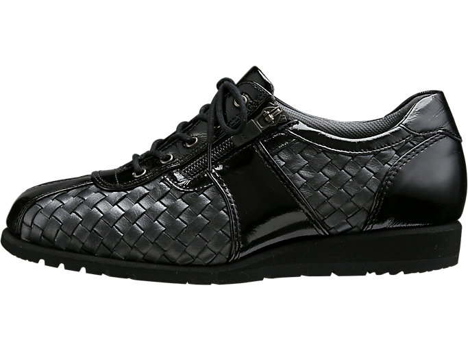 Left side view of PEDALA WALKING SHOES 3E, ブラック/BLK