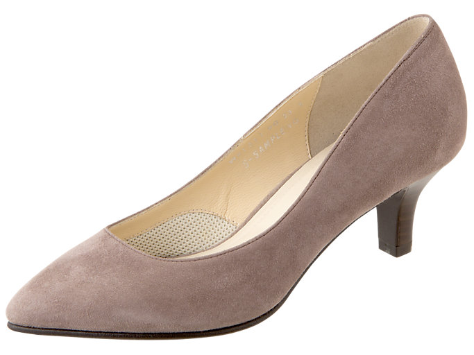Right side view of ランウォーク レディース E, TAUPE GREY