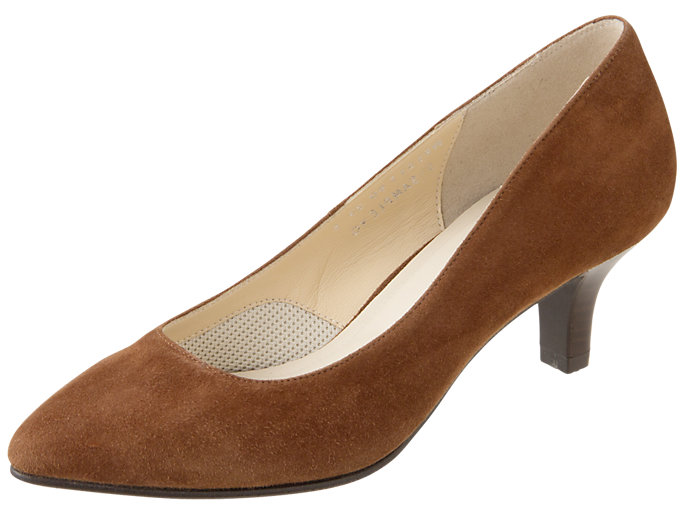 Right side view of ランウォーク レディース E, BROWN