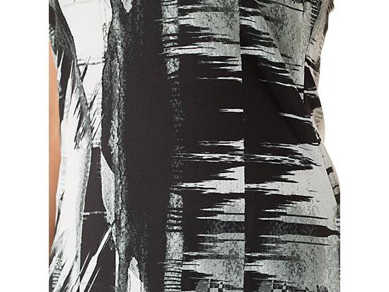 Emma Racerback Black & White Glitch Print 23