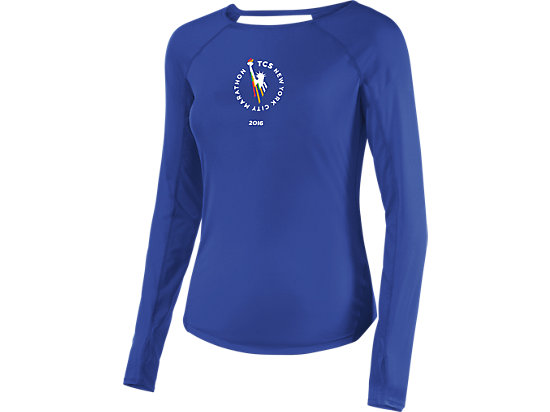 Marathon Long Sleeve Drop Back Tee Royal Blue 3