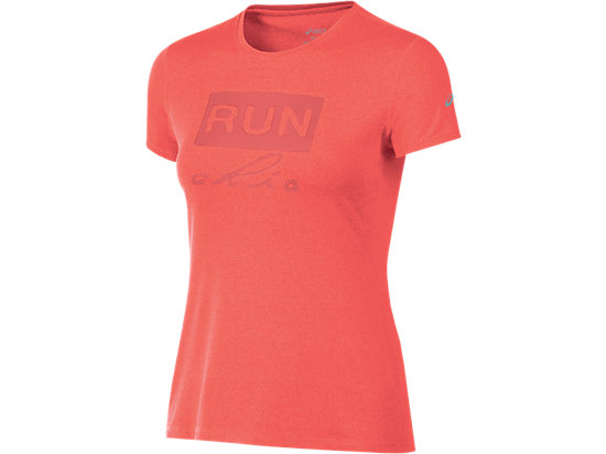 Run Chic Tee Fiery Flame Heather 3