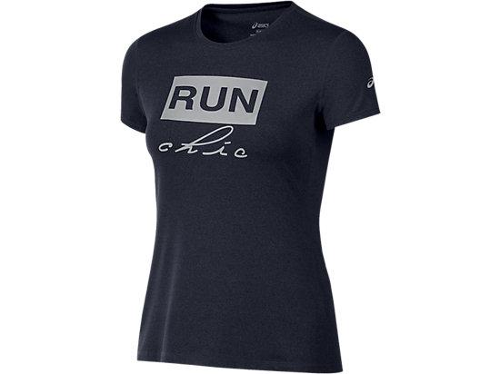 Run Chic Tee Performance Black Heather 3