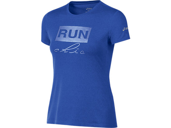 Run Chic Tee Royal Blue Heather 3