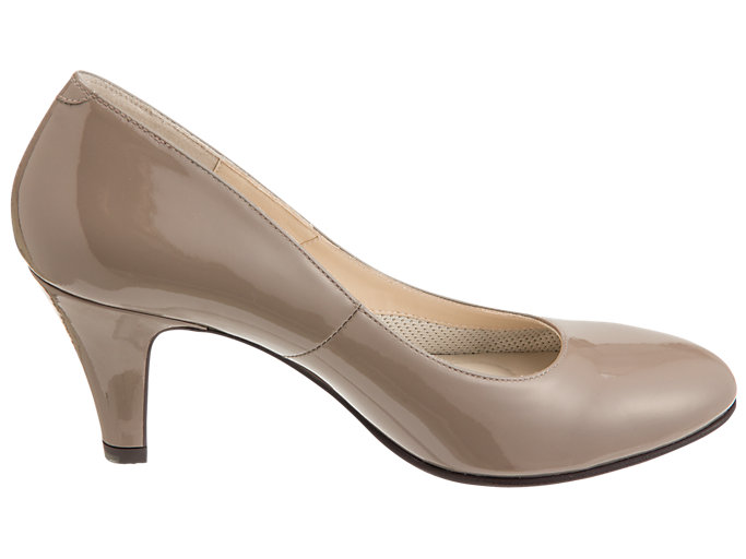 Front Left view of ランウォーク レディース 2E, TAUPE GREY