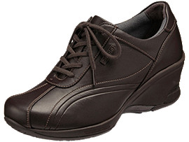 Front Left view of PEDALA WALKING SHOES 2E, コーヒーブラウン