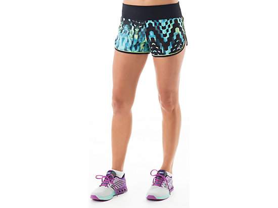 Everysport Short Turquoise Check Print 3