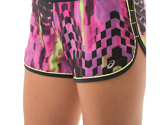 Everysport Short Eggplant Check Print 15