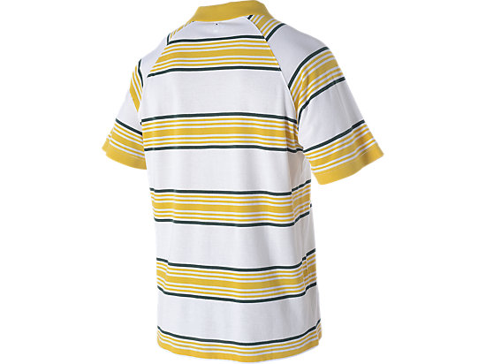 WALLABIES 2016 SUPPORTER STRIPED POLO WHITE/GOLD 7