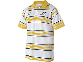 WALLABIES 2016 SUPPORTER STRIPED POLO
