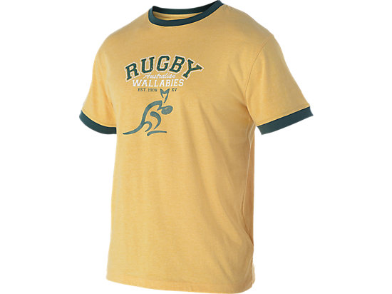 WALLABIES 2016 SUPPORTER TRADITIONAL RUGBY T-SHIRT GOLD MARLE 3