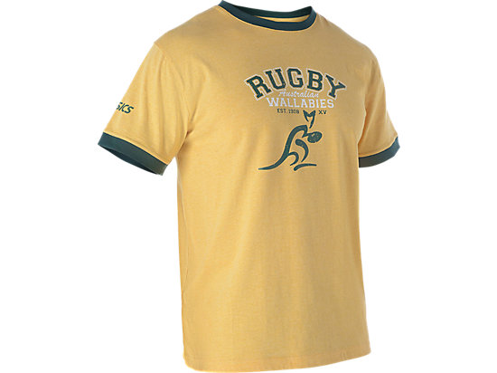 WALLABIES 2016 SUPPORTER TRADITIONAL RUGBY T-SHIRT GOLD MARLE 7