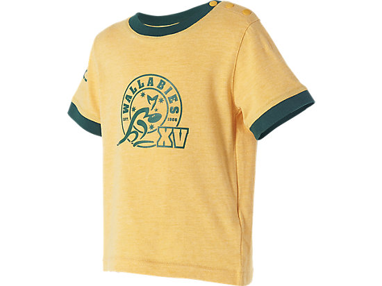 WALLABIES 2016 SUPPORTER STAMP T-SHIRT INFANTS GOLD MARLE 3