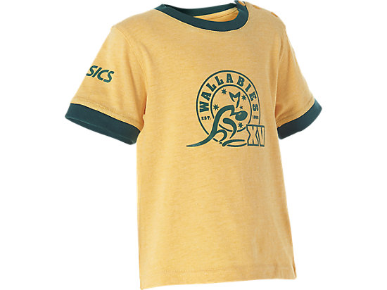 WALLABIES 2016 SUPPORTER STAMP T-SHIRT INFANTS GOLD MARLE 7