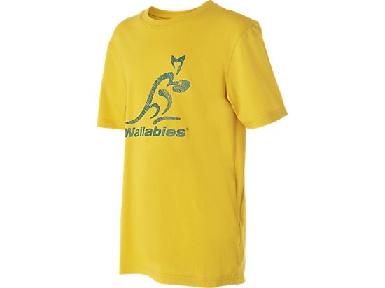 WALLABIES 2016 SUPPORTER LOGO T-SHIRT YOUTH GOLD 3