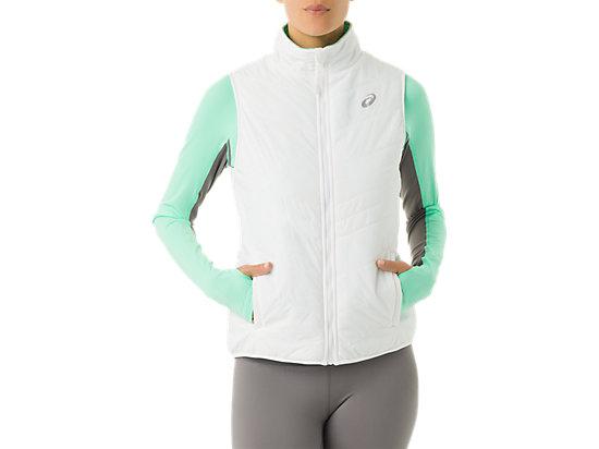 Womens Reversible Vest White/Mint 3