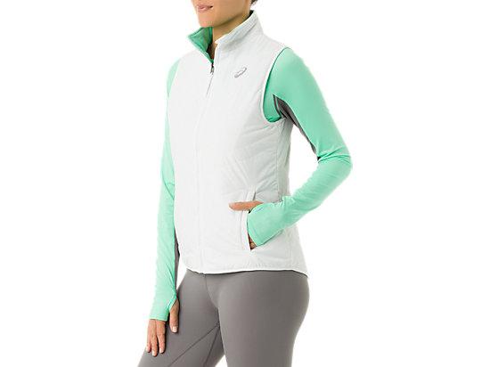 Womens Reversible Vest White/Mint 11