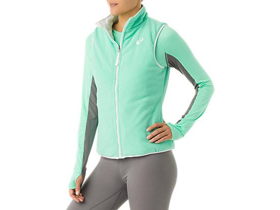 Womens Reversible Vest White/Mint 23