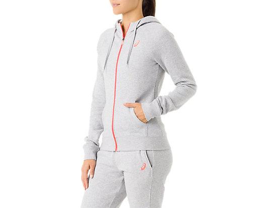 Women's Fleece Hoody Heather Grey 11