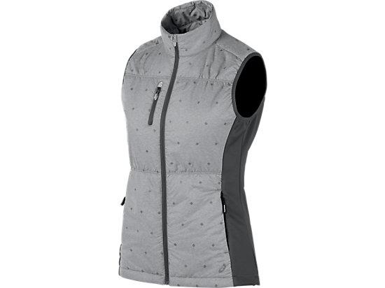 Puff Vest Dark Grey Heather Glow 3