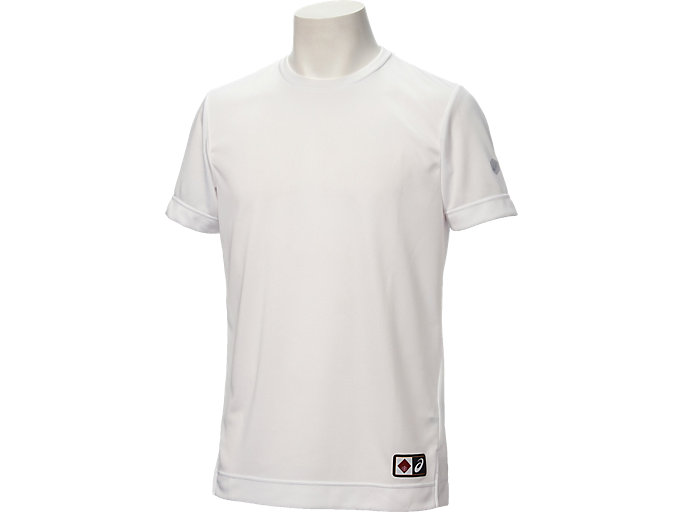Front Top view of Tシャツ半袖(早稲田), ホワイト