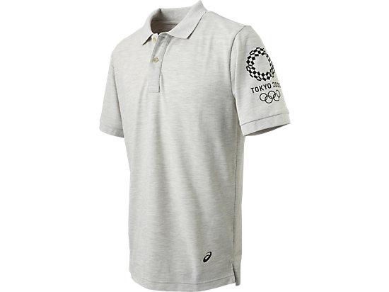 ポロシャツ(東京2020オリンピックエンブレム), ホワイト杢