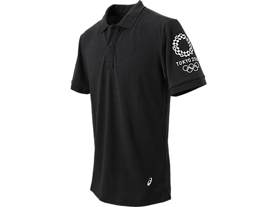 ポロシャツ(東京2020オリンピックエンブレム), ブラック杢