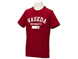 Front Top view of Tシャツ(早稲田), Wレッド